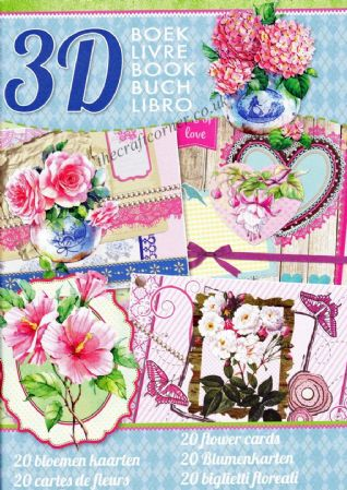 20 Flower Cards 3D Decoupage A4 Book By Studio Light